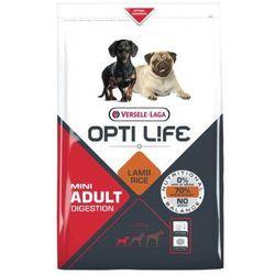 Versele Laga Opti Life Adult Digestion Mini 2,5kg/7,5kg - karma z jagnięciną dla dorosłych psów ras małych i miniaturowych z wrażliwym układem pokarmowym Waga:2,5 kg