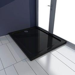 vidaXL Brodzik prysznicowy prostokątny ABS czarny 70 x 90 cm Darmowa wysyłka i zwroty