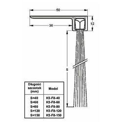 Listwa progowa STRIBO F8-80 1 mb
