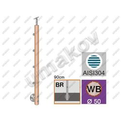 Drewniany słupek BUK (BEECH) D50mm, 4xd12mm, v=90c