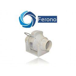 Wentylator kanałowy, plastikowy FERONO o wydajności 225 m3/h (FKP100)