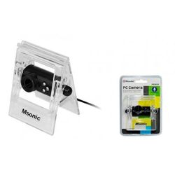 Kamera internetowa z mikrofonem MSONIC USB 2.0, 3 LED, MR1803K czarna