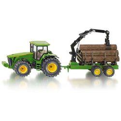 Zabawka SIKU traktor z przyczepą leśną