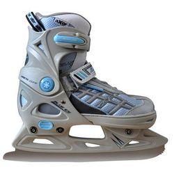 Łyżwy figurowe regulowane AXER SPORT A2964 Blue Ice (rozmiar 37-40) + DARMOWY TRANSPORT!