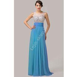 Suknia z kryształkami, błękitna | niebieskie sukienki