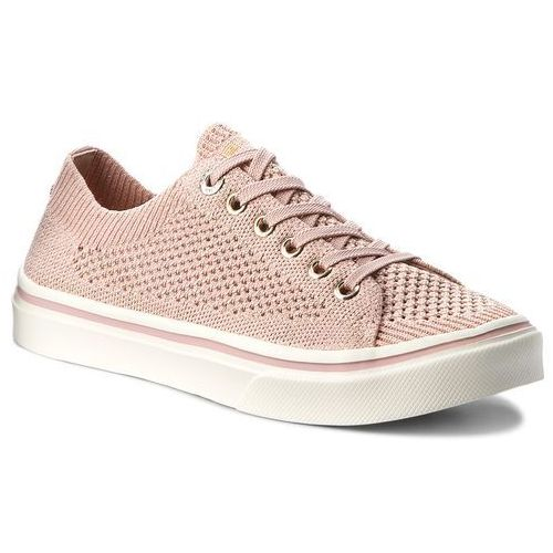 87a2e2aecbf74 Tenisówki TOMMY HILFIGER - Knitted Light Weight Lace Up FW0FW03362 Dusty  Rose 502