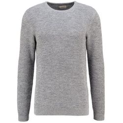 Selected Homme SHNNEWVINCEBUBBLE Sweter medium grey melange