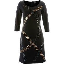 Sukienka shirtowa z ćwiekami bonprix czarny