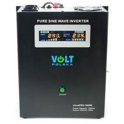 VOLT sinusPRO-1000W Przetwornica samochodowa 700W/1000W 12V/230V z pełną sinusoidą oraz funkcją UPS i prostownika