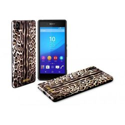 Rovens.pl JUST CAVALLI Leopard Cover - Etui Sony Xperia Z3+ (brązowy)