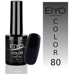 Lakier hybrydowy EIYO Secret - kolor nr 80 - Czarny z Czerwoną Poświatą - 15 ml Lakiery hybrydowe