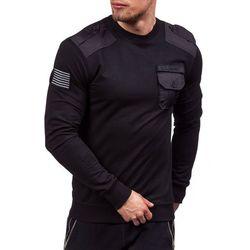 Czarna bluza męska bez kaptura Denley 0441 - CZARNY Bluzy J.STYLE Y-29 na 59.99 (-14%)