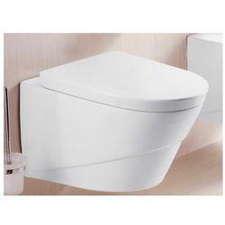 LUNA Miska WC wisząca + deska duroplast wolnoopadająca