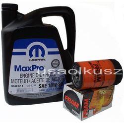 Filtr oleju FRAM oraz oryginalny olej MOPAR 10W30 Dodge Dakota 3,7 V6 -2008