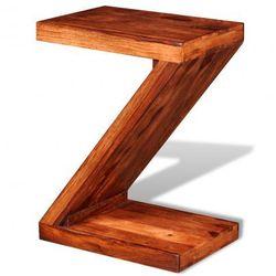 Stolik z drewna sheesham kształt Z Zapisz się do naszego Newslettera i odbierz voucher 20 PLN na zakupy w VidaXL!