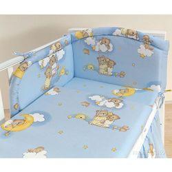 MAMO-TATO pościel 3-el Drabinki z misiami na błękitnym tle do łóżeczka 70x140cm