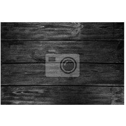 Plakat Czarne tło drewna
