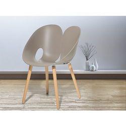 Krzeslo jasnoszare - Krzeslo do jadalni, do salonu - krzeslo kubelkowe - MEMPHIS