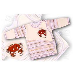 Kaftanik niemowlęcy zapinany z boku Aqua 56-62 ekrii