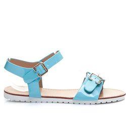 Lakierowane sandałki Patrice - odcienie niebieskiego