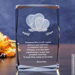 Podziękowanie dla Rodziców » Serca 3D « GRAWER 3D w krysztale