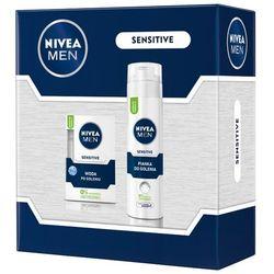 NIVEA Men Sensitive Mały zestaw kosmetyków dla mężczyzn (woda + pianka