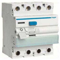 Hager - RCCB Wyłącznik różnicowoprądowy 4P 40A/30mA Typ AC - CDC440J