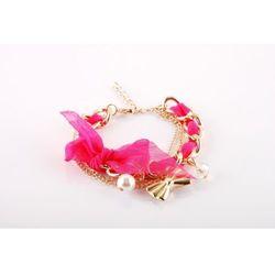 Bransoletka z zawieszkami - pink