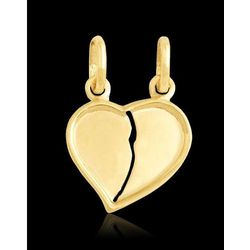 wisiorek złote serce