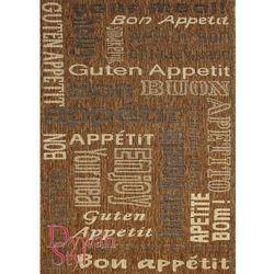 Dywan Kitchen Bon Appetit brązowy 080x200 prostokąt