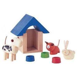 Drewniane Zwierzątka Domowe z Akcesoriami, PLAN TOYS