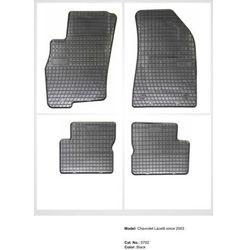 Dywaniki gumowe czarne z kompletem stoperów - Daewoo Nubira (II) 1998-2003
