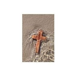 Foto naklejka samoprzylepna 100 x 100 cm - Drewniany krzyż w wodzie morskiej