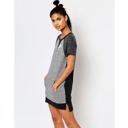 Nike T-Shirt Dress With Colour Block - Grey