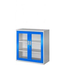 Metalowa szafka z witryną