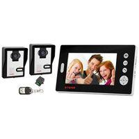 VDW100 2v1 - Wideodomofon bezprzewodowy dwie kamery (czarny)