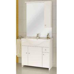 DEFTRANS MALIBU Z75 Zestaw łazienkowy szafka 4D1S + umywalka + lustro z oświetleniem, biały 106-Z-07501+1523