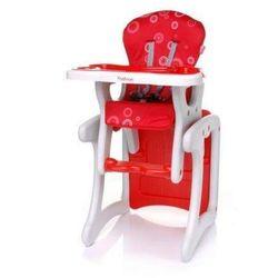Krzesełko do karmienia Fashion czerwone