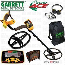 Wykrywacz metalu GARRETT EURO ACE 350 + OSŁONA CEWKI + 4 AKUMULATORY AA Eneloop + słuchawki
