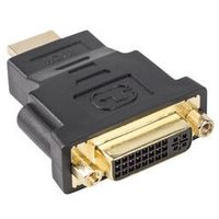 ADAPTER HDMI(M)->DVI-D(F)(24+5) SINGLE LINK CZARNY LANBERG
