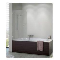 Parawan nawannowy SanSwiss PURB jednoczęściowy lewy 85x140 cm, chrom, szkło przeźroczyste PURBG08501007