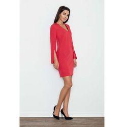 c09bdb5b43 ... (suknie sukienki lipsy ariana grande sukienka koktajlowa nude) we  wszystkich kategoriach. Czerwona Sukienka Koktajlowa Mini z Rozciętym  Rękawem