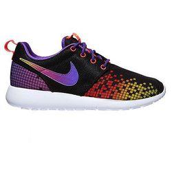 Buty Nike Rosherun Print (GS) (677784-003) - czarny   fioletowy iD: 9641 (-32%)