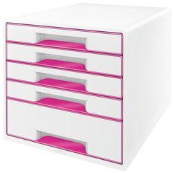 Kontener szufladowy Leitz Wow 5 szuflad 5214 - metaliczny różowy