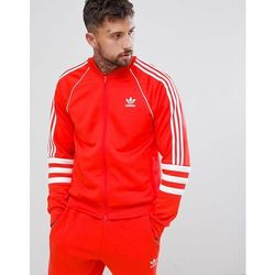 adidas originals trefoil superstar track jacket ay7062 red w