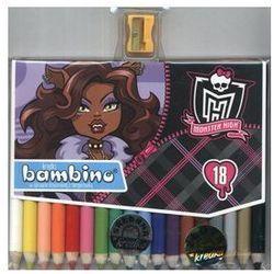 Kredki Bambino 18 kolorów Monster High + temperówka