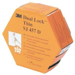 Taśma rzepowa Do przyklejenia Główka grzybkowa (DxS) 5000 mm x 25 mm Półprzezroczysty 3M 3M SJ 457D Dual Lock Dozownik 5 m
