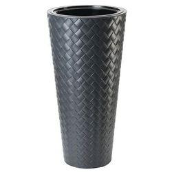 Doniczka Plastikowa 40 Cm Antracytowa Slim Form Plastic