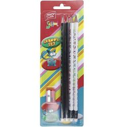 Zestaw szkolny EASY 833463 ołówki i temperówka
