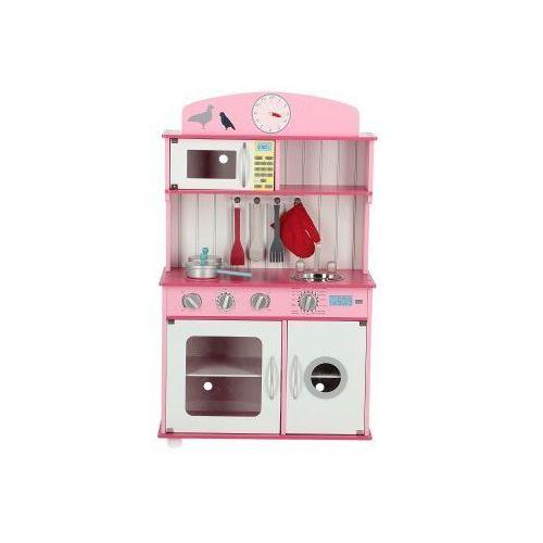 Drewniana Kuchnia Dla Dzieci Sofia Różowa Z Wyposażeniem